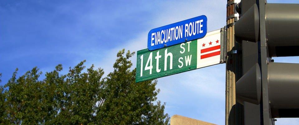 Route d'évacuation