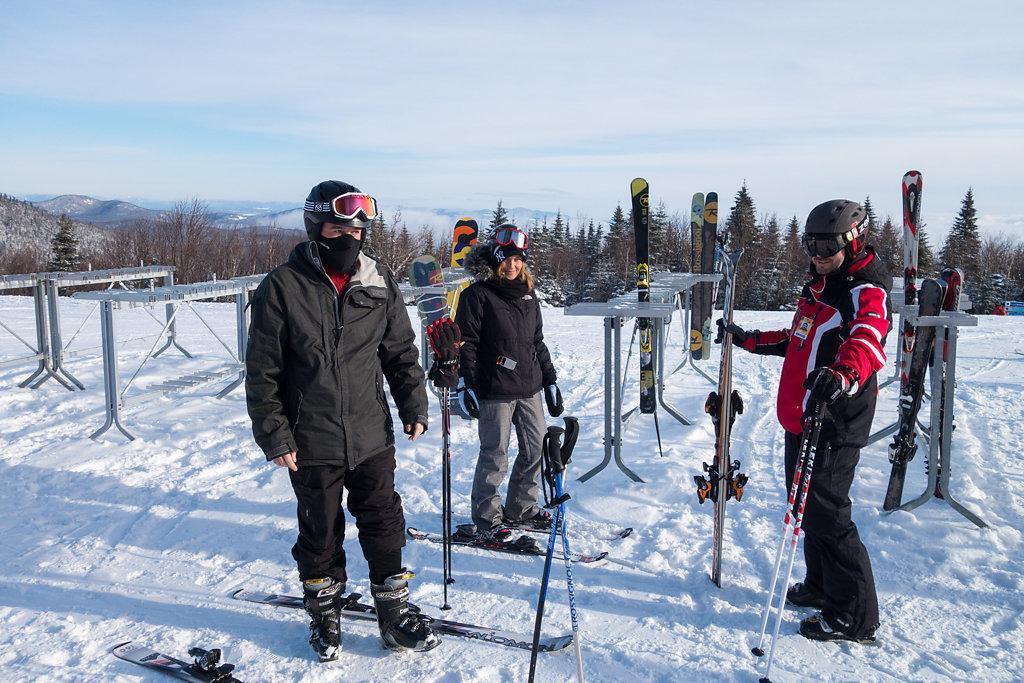 Massif Charlevoix sur les pistes de ski