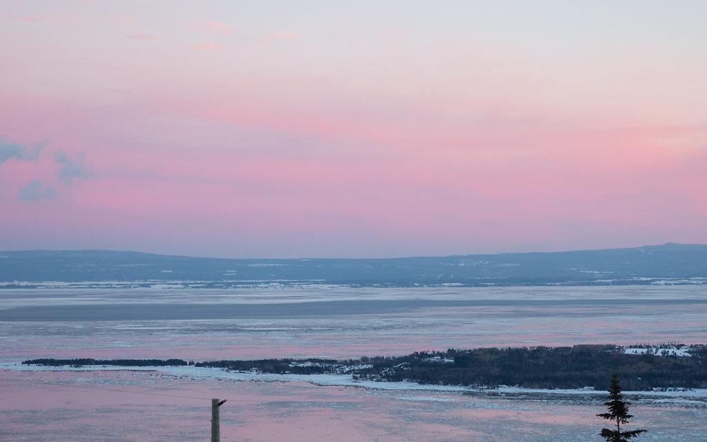 Baie de Charlevoix en hiver