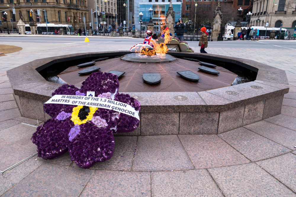 Feu de commémoration des 100 ans génocide arménien