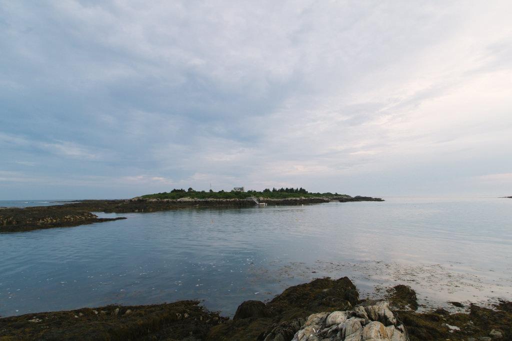 Vue sur l'océan depuis la pointe de Bailey Island