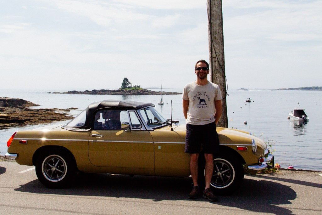 Une MGB à East Boothbay