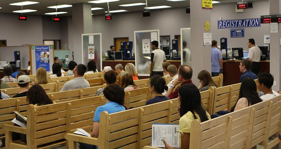 Intérieur du DMV de Watertown
