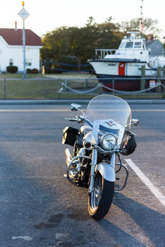 Moto phare de Chatam Cape Cod