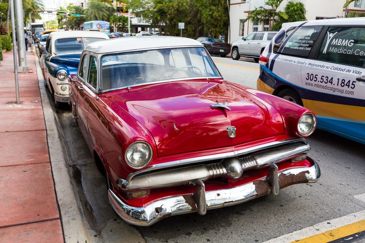 South Beach Miami Old Car